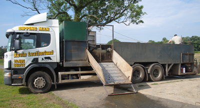 mobile sheep dipping lorry